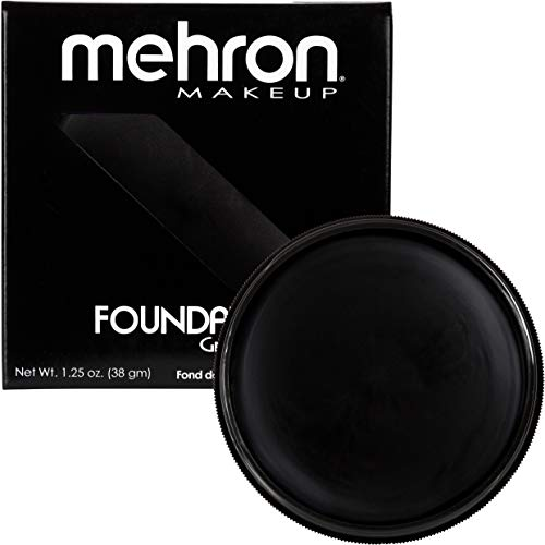 - Mehron Makeup Foundation Greasepaint (1.25 ounce) (Black)