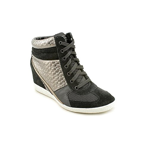 Coach Women's Naples Fashion Sneaker (Black/Warm Pewter), Black, Size 9.5