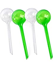 4 Pcs Small Watering Globes, Plant Watering Globes Imitation Glass Watering Bulbs Houseplant Plant Pot Bulbs, Garden Watering PVC Self Watering Irrigation Drippers for Garden for Your Indoor Outdoor Plants