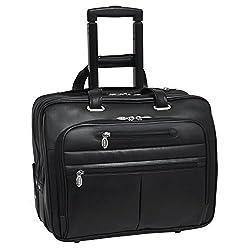"Mcklein Wrightwood 17"" Wheeled Laptop Case,black"