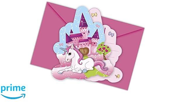 12-piezas Kit de invitación Unicornio para Cumpleaños Niños ...