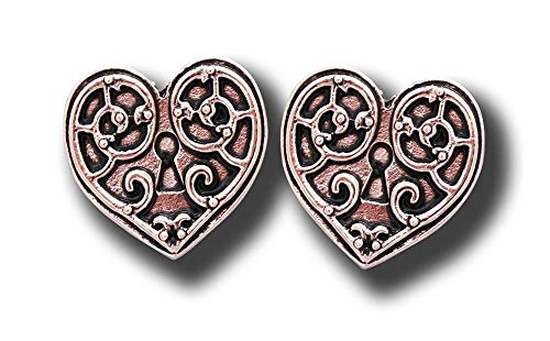 Earrings For A Warrior'S Heart Steampunk Gothic Jewelry