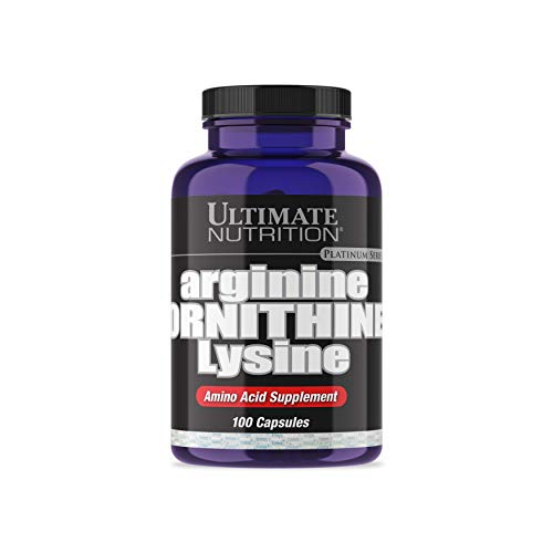Hgh Immune Vital Booster - Ultimate Nutrition Arginine Ornithine Lysine Capsules | Amino Acid Blend to Recover Faster | 33 Servings, 1 Capsule | 100 Capsules