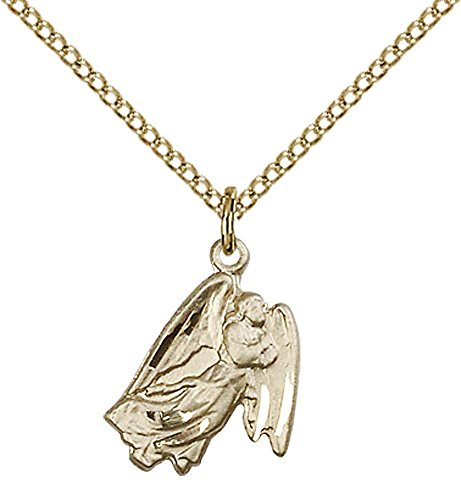 14kt Gold Filled Guardian Angel Pendant with 18