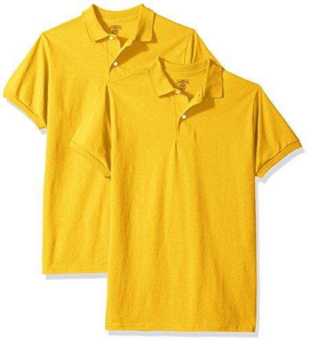 Jerzees Big Boys' Spotshield Youth Jersey Sport Shirt (2-Pack), Gold, Large