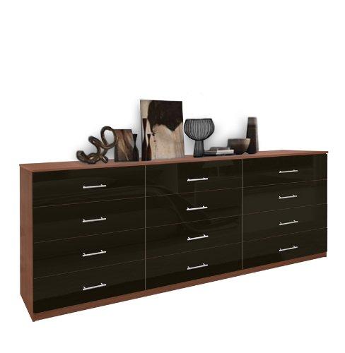 12 Drawer Triple Dresser