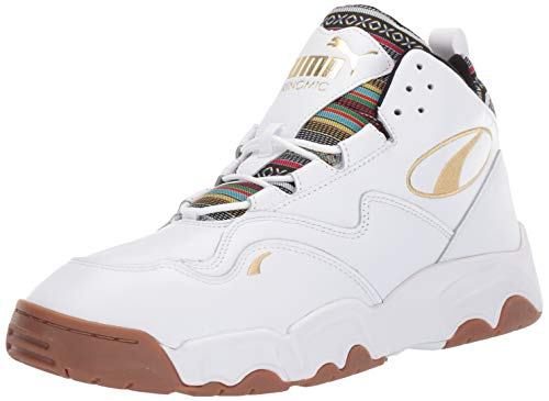 PUMA Source MID Sneaker, White-Gum, 8 M US