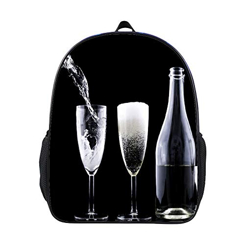 SARA NELL Champagner Toasting New Years Eve Drink Crystal School Backpack Book Bag For Boys Girls 3-6 Years Old