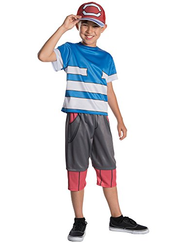 Child Pokemon Ash Deluxe Costume - Size Medium -