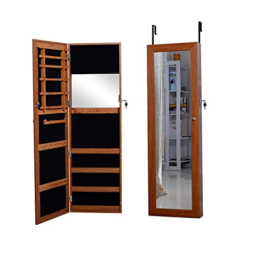 Used, Facilehome Oak Mirror Jewelry Cabinet Armoire Wall for sale  Delivered anywhere in USA