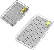 SF Fly Fishing Box Flies Case Waterproof Salt-Rresistant Thick Strong Fly Lure Box Deep Slot for Hooks, Nymphs