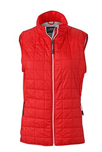 Chaleco en en muletón ligero mixado deporte de tejido Chaleco híbrido Mujer light-red/silver