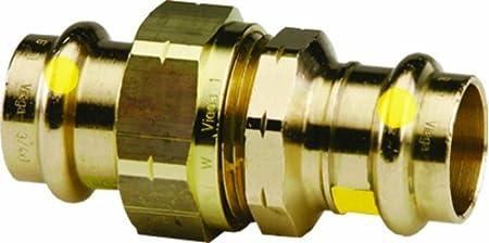 Viega 17598 ProPress G Bronze Union with 1//2-Inch P x P