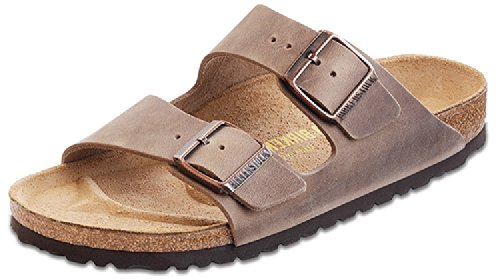 Birkenstock Unisex Arizona Tobacco Oiled Leather Sandals - 41 N EU/10-10.5 2A(N) US Women/8-8.5 2A(N) US Men