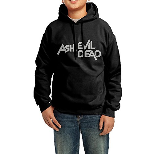 Bruce Campbell Ash Costumes (GGDD Youth Ash Vs Evil Dead Jogging Cool Hoodie Sweatshirt Leisure Style XL Black)