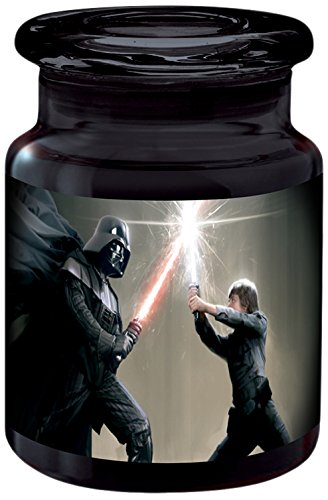 ICUP Star Wars - The Force Is Strong With This One 6oz. Black Glass Storage Jar With Airtight Lid