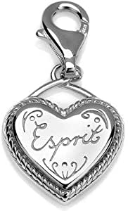 Women Rhodium Plated Heart Shaped Pendant - without chain