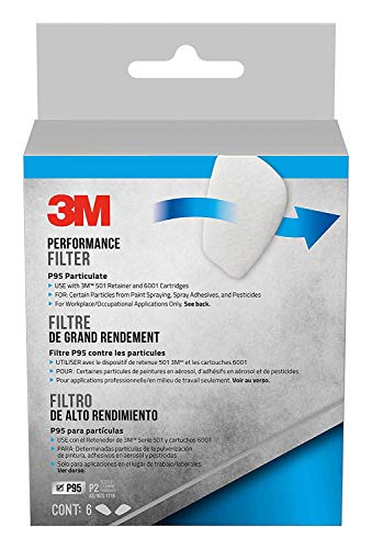 3M Safety 5P71PB1-6 3M P95 Particulate Filters, 6/Pack