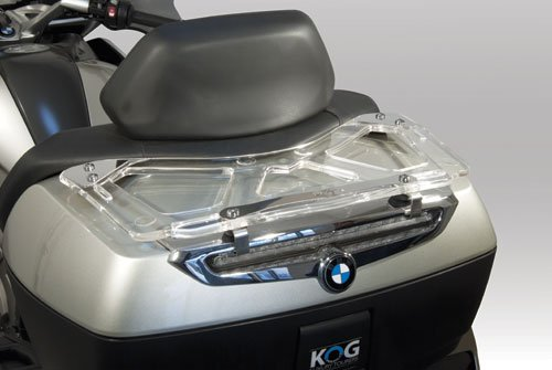 Isotta Rear Topcase Rack in Clear plexiglass K1600 GT/ GTL for BMW R 1200 RT> 2011 and up pp11