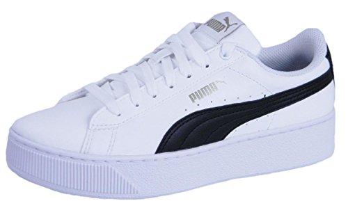 Platform Pelle Vikky Alta White Donna Sl Liscia Sneaker puma Black Puma BwqIH5w