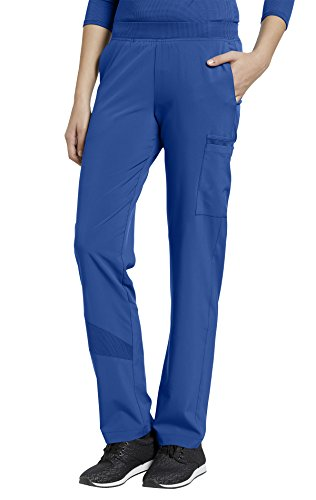 FIT by White Cross Women's 328 Elastic Waist Cargo Pant- Royal- Small