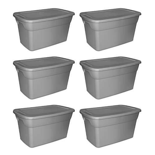 Sterilite, 30 Gal./114 L Tote Box, Case of 6 - Storage Gallon Containers 30