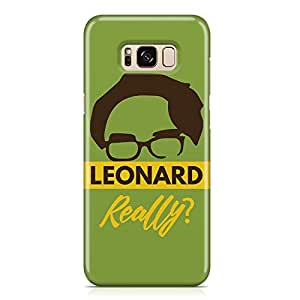 Samsung S8 Plus Case Big Bang Theory Case LEONARD REALLY Tv Show Samsung Samsung S8 Plus Cover Wrap AroundLight weight and tough case