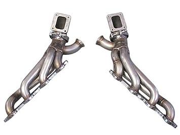 cxracing Twin Turbo colector Kit de cabecera para 86 - 92 Supra MK3 LS1 LSX Swap: Amazon.es: Coche y moto