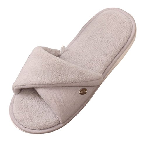 Cattior Womens Open Toe Ladies Pantofole Pantofole Spa Grigio