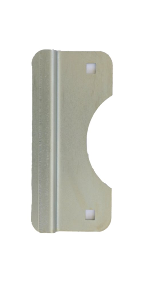 Latch Guard LG150Z Door Latch Protection Plate 2-5/8'' x 6'' for Out Swinging Doors with Cylindrical Lock, 12 Gauge, Zinc plated brushed finish