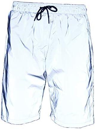LZLRUN 3M Reflective Shorts Pants Men Fluorescent Trousers