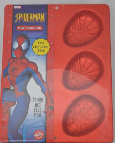 Wilton Spiderman Mini Cookie Treats Brownie Cupcake Muffin Spider-man Cake Pan Mold (2105-5054, 2004) ~ 6 Cavity