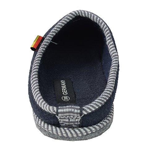Pantulfas de hombre de fieltro, zapatillas de fieltro, talla 40 - 48) azul marino
