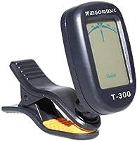 WINGO afinador de guitarra T-300 con clip cromático, afinador de ...