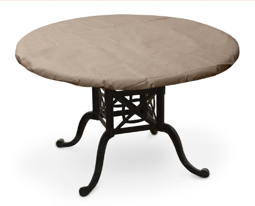 "KOVERROOS 38"" Round Table Top Cover - KoverRoos III table top cover (Dimensions: 42"" Diameter) 3-layer nonwoven protective fabric one-way breathable to prevent mold and mildew Attachment System: Elastic to secure cover - patio-tables, patio-furniture, patio - 41JN20bg5rL -"