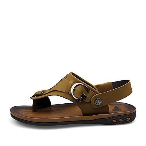 cinturino spillo uomo Dimensione Giallo Color Cachi Tacco a Mens con EU 2018 shoes piatto posteriore da 43 wzIp70qO