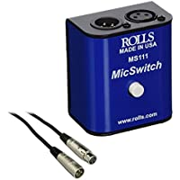 Rolls MS111 Mic Switch Latching or Momentary Microphone Mute Switch with SM Series XLR Microphone Cable -6