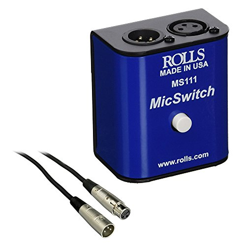 Rolls MS111 Mic Switch Latching or Momentary Microphone Mute Switch with SM Series XLR Microphone Cable ()