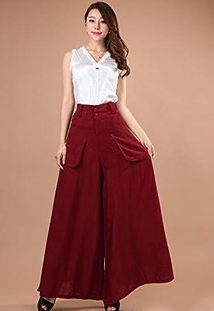 Ling Loose Nine pantalones/Falda-Pantalón para vertido de la ...