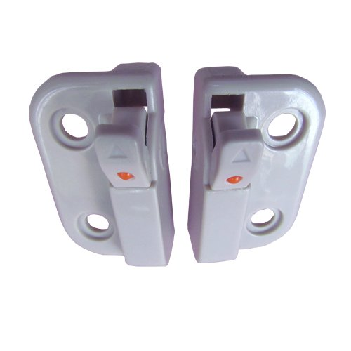 One Pair of White Window Opening Control Device (Opening Device)