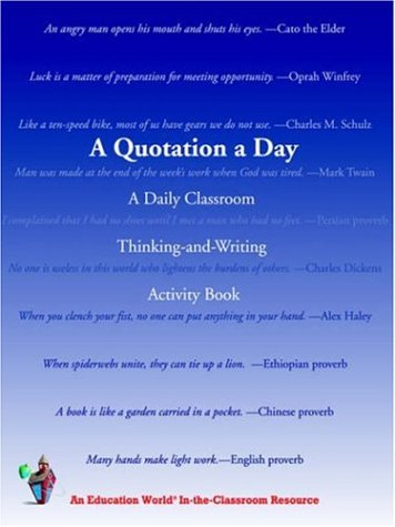 A Quotation a Day: A Daily Classroom Thinking-and-Writing Activity Book from Brand: iUniverse