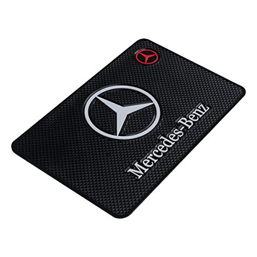 Car Dashboard Non-Slip Mat Auto High Temperature Resistance Medium 7.5Inch Leather Surface Anti-Slip Car Dashboard Pad for Phone,CD,Electronic Devices,Keyboard,Other Smooth Items (Fit Mercedes Benz)