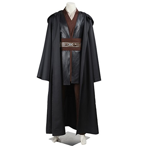 CosplayDiy Men's Outfit for Star Wars Anakin Skywalker Costume with Robe XS