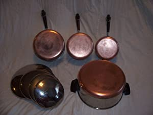 Amazon Com Set Of 4 Vintage 1801 Revere Ware Stainless