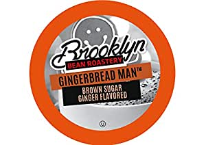 Brooklyn Beans Gingerbread Man Coffee Pods for Keurig K Cups Coffee Maker, 40 Count