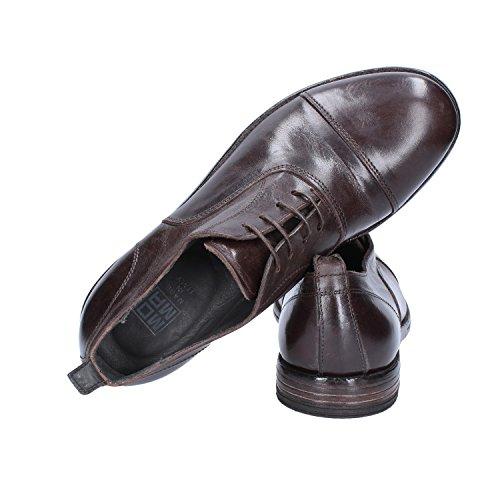 Uomo Classiche Shoe Marrone Oxford Scuro Pelle MOMA aP0Zqwt0