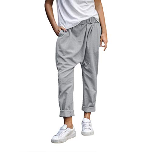ONLY TOP Fashion Men's Sports Plaid Casual Loose Sweatpants Drawstring Cargo Pant Workout Slim fit Trousers Gray