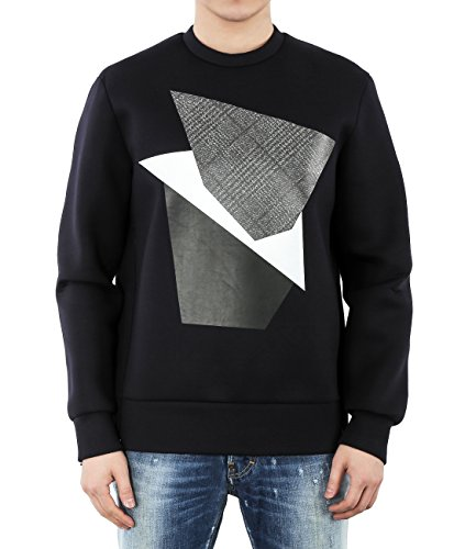 wiberlux-neil-barrett-mens-neoprene-geometric-print-side-zip-sweatshirt-m-navy