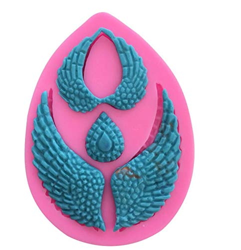 Molde de silicona para fondant, diseño de alas de ángel con mosca ...