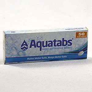 Tabletas Aquatabs para purificar el agua (50 unidades): Amazon.es ...